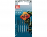 No: 24 (37 x 0.80 mm) 6 pieces chenille needles with sharp point. Brand PRYM, acs-845