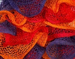 Fiber Content 100% Acrylic, Red, Purple, Orange, Brand Ice Yarns, Yarn Thickness 6 SuperBulky  Bulky, Roving, fnt2-20921