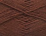 Fiber Content 55% Virgin Wool, 5% Cashmere, 40% Acrylic, Brand ICE, Brown, Yarn Thickness 2 Fine  Sport, Baby, fnt2-21115