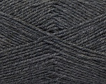 Fiber Content 55% Virgin Wool, 5% Cashmere, 40% Acrylic, Brand ICE, Dark Grey, Yarn Thickness 2 Fine  Sport, Baby, fnt2-21118