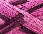 A beautiful new scarf yarn. One ball is enough to make a beautiful scarf. Knitting instructions are included! Fiber Content 100% Acrylic, Pink Shades, Maroon, Brand ICE, Yarn Thickness 6 SuperBulky  Bulky, Roving, fnt2-21355