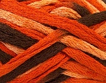 Fiber Content 100% Acrylic, Salmon, Orange, Brand ICE, Brown, Yarn Thickness 6 SuperBulky  Bulky, Roving, fnt2-21965