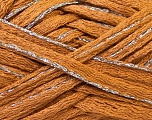 Fiber Content 90% Acrylic, 10% Lurex, Silver, Light Brown, Brand ICE, Yarn Thickness 6 SuperBulky  Bulky, Roving, fnt2-22103