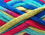 Fiber Content 100% Acrylic, Turquoise, Brand ICE, Green, Fuchsia, Blue, Yarn Thickness 6 SuperBulky  Bulky, Roving, fnt2-22584