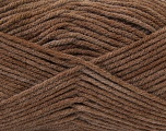 Fiber Content 100% Acrylic, Brand ICE, Dark Brown, Yarn Thickness 4 Medium  Worsted, Afghan, Aran, fnt2-22604