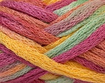 Fiber Content 100% Acrylic, Yellow, Rose Pink, Mint Green, Light Salmon, Brand ICE, Yarn Thickness 6 SuperBulky  Bulky, Roving, fnt2-22678