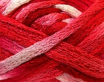 Fiber Content 100% Acrylic, White, Red, Pink, Brand ICE, Yarn Thickness 6 SuperBulky  Bulky, Roving, fnt2-22680