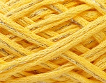 Fiber Content 90% Acrylic, 10% Lurex, Yellow, Silver, Brand ICE, Yarn Thickness 6 SuperBulky  Bulky, Roving, fnt2-22695