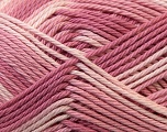 Fiber Content 100% Mercerised Cotton, White, Orchid, Lilac, Brand ICE, Yarn Thickness 2 Fine  Sport, Baby, fnt2-23340