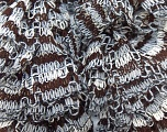 Composition 100% Acrylique, White, Brand Ice Yarns, Grey, Brown, Yarn Thickness 6 SuperBulky  Bulky, Roving, fnt2-23373