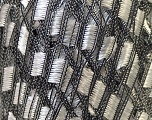 Trellis  Fiber Content 100% Polyester, White, Brand ICE, Black, Yarn Thickness 5 Bulky  Chunky, Craft, Rug, fnt2-23688
