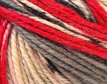 Fiberinnhold 40% Akryl, 35% Ull, 25% Alpakka, Red, Brand Ice Yarns, Grey, Cream, Yarn Thickness 5 Bulky  Chunky, Craft, Rug, fnt2-25423