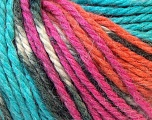 Fiberinnhold 40% Akryl, 35% Ull, 25% Alpakka, Turquoise, Orange, Brand Ice Yarns, Fuchsia, Yarn Thickness 5 Bulky  Chunky, Craft, Rug, fnt2-25425