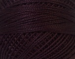 Fiber Content 100% Mercerised Cotton, Brand Oren Bayan, Maroon, Yarn Thickness 0 Lace  Fingering Crochet Thread, fnt2-27849