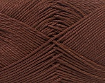 Fiber Content 100% Mercerised Cotton, Brand ICE, Dark Brown, Yarn Thickness 2 Fine  Sport, Baby, fnt2-32539
