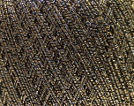Fiber Content 50% Metallic Lurex, 30% Cotton, 20% Acrylic, Brand ICE, Gold, Black, Yarn Thickness 2 Fine  Sport, Baby, fnt2-32768
