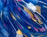 Fiber Content 30% Paper, 30% Mohair, 20% Acrylic, 20% Polyester, Yellow, Pink, Brand ICE, Blue, fnt2-32911