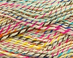 Fiber Content 100% Premium Acrylic, Yellow, Pink, Brand ICE, Cream, Blue, Yarn Thickness 4 Medium  Worsted, Afghan, Aran, fnt2-36311