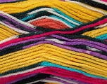 Fiber Content 100% Premium Acrylic, Yellow, Pink, Lilac, Brand ICE, Black, Yarn Thickness 4 Medium  Worsted, Afghan, Aran, fnt2-36317