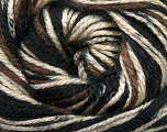 Fiber Content 100% Acrylic, Brand ICE, Camel, Brown, Black, Yarn Thickness 4 Medium  Worsted, Afghan, Aran, fnt2-36326