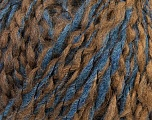 Please be advised that this is a self-striping yarn. Refer to package photos to see how colr changes Composition 55% Laine, 35% Acrylique, 10% Alpaga, Brand ICE, Brown Shades, Blue Shades, fnt2-36694