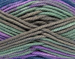 Composition 100% Acrylique, Navy, Mint Green, Lilac, Brand ICE, Grey, Yarn Thickness 6 SuperBulky  Bulky, Roving, fnt2-36971