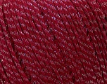 Fiber Content 77% Wool, 23% Nylon, Silver, Red, Brand ICE, fnt2-38244