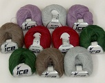 Fiber Content 8% Polyamide, 6% Wool, 56% SuperKid Mohair, 30% Viscose, Mixed Lot, Brand ICE, fnt2-38420