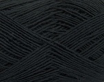 Fiber Content 100% Cotton, Brand ICE, Black, Yarn Thickness 2 Fine  Sport, Baby, fnt2-38471