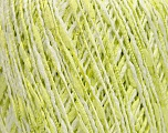 Fiber Content 60% Cotton, 25% Acrylic, 15% Polyamide, White, Brand ICE, Green, Yarn Thickness 2 Fine  Sport, Baby, fnt2-39241
