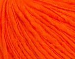 Fiber Content 50% Acrylic, 40% Wool, 10% Mohair, Neon Orange, Brand ICE, Yarn Thickness 3 Light  DK, Light, Worsted, fnt2-39259