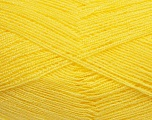 Very thin yarn. It is spinned as two threads. So you will knit as two threads. Yardage information is for only one strand. Fiber Content 100% Acrylic, Yellow, Brand ICE, fnt2-39399