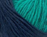 Please note that the yarn is a self-striping yarn. See package photos for the color appaerance Fiber Content 60% Acrylic, 40% Wool, Turquoise, Navy, Brand ICE, fnt2-39700