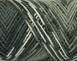 Fiber Content 50% Wool, 50% Acrylic, White, Brand ICE, Grey Shades, fnt2-39909