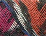 Fiber Content 50% Wool, 50% Acrylic, White, Brand ICE, Fuchsia, Copper, Black, Yarn Thickness 3 Light  DK, Light, Worsted, fnt2-39914