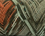 Fiber Content 50% Acrylic, 50% Wool, Brand ICE, Green Shades, Copper, Yarn Thickness 3 Light  DK, Light, Worsted, fnt2-39916