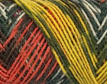 Fiber Content 50% Wool, 50% Acrylic, Yellow, Pink, Orange, Khaki, Brand ICE, Yarn Thickness 3 Light  DK, Light, Worsted, fnt2-39917