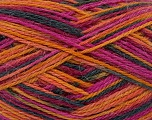 Fiber Content 75% Wool, 25% Polyamide, Orange, Brand ICE, Gold, Fuchsia, Black, fnt2-39950
