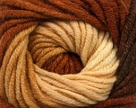 Fiber Content 70% Acrylic, 30% Merino Wool, Brand ICE, Cream, Copper, Brown, fnt2-39957