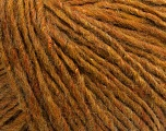 Fiber Content 57% Acrylic, 5% Polyamide, 35% Wool, 3% Metallic Lurex, Olive Green, Brand ICE, Copper, Brown, fnt2-40156