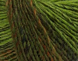 Fiber Content 50% Wool, 50% Acrylic, Brand ICE, Green Shades, Yarn Thickness 3 Light  DK, Light, Worsted, fnt2-40292