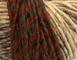 Fiber Content 50% Acrylic, 50% Wool, Brand ICE, Grey, Cream, Copper, Camel, fnt2-40481
