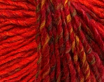Fiber Content 50% Acrylic, 50% Wool, Orange, Khaki, Brand ICE, Burgundy, Yarn Thickness 4 Medium  Worsted, Afghan, Aran, fnt2-40511