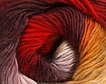 Fiber Content 50% Acrylic, 50% Wool, Yellow, White, Red, Maroon, Brand ICE, Yarn Thickness 2 Fine  Sport, Baby, fnt2-40626