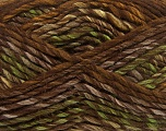 Fiber Content 75% Acrylic, 25% Wool, Brand ICE, Green, Brown Shades, Yarn Thickness 5 Bulky  Chunky, Craft, Rug, fnt2-40814