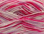 Fiber Content 100% Acrylic, White, Pink, Lilac, Brand ICE, Yarn Thickness 2 Fine  Sport, Baby, fnt2-40831