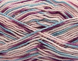 Fiber Content 100% Acrylic, Purple, Pink, Brand ICE, Blue, Yarn Thickness 2 Fine  Sport, Baby, fnt2-40832