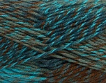 Fiber Content 75% Acrylic, 25% Wool, Turquoise, Navy, Brand ICE, Grey, Brown, Yarn Thickness 4 Medium  Worsted, Afghan, Aran, fnt2-40898