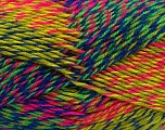 Fiber Content 75% Acrylic, 25% Wool, Rainbow, Brand ICE, Yarn Thickness 4 Medium  Worsted, Afghan, Aran, fnt2-40901