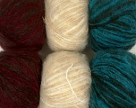 Fiber Content 50% Acrylic, 30% Wool, 19% Polyamide, 1% Elastan, Mixed Lot, Brand ICE, Yarn Thickness 4 Medium  Worsted, Afghan, Aran, fnt2-41010